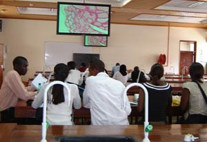 Students at University of Nairobi college of health sciences participate in didactic training