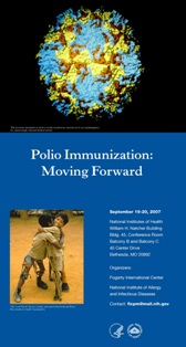 Poster from September 2007 meeting Polio Immunization: Moving Forward