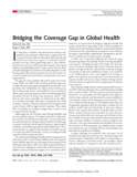 Cover of JAMA article Bridging the Coverage Gap in Global Health, Oct. 24, 2007