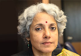 Photo by Karin Zeitvogel. Headshot of Dr. Soumya Swaminathan.