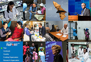 Collage of images from the top global health research news stories of 2016